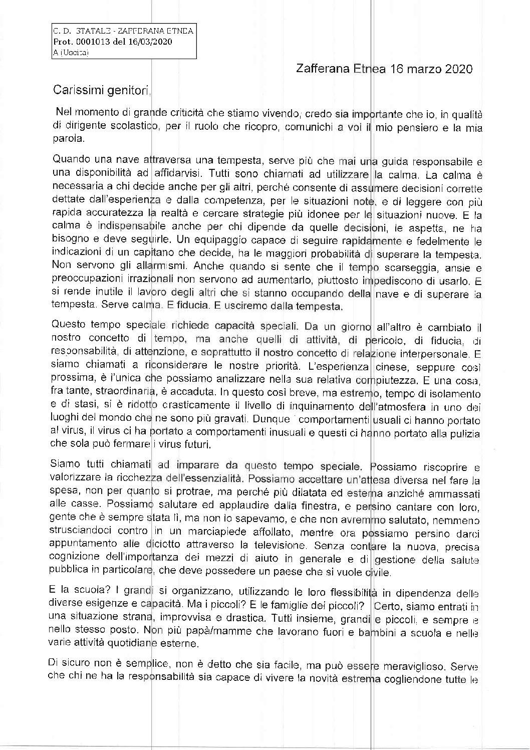 Comunicazione Direttrice Dott.ssa Zammataro Gabriella (1° parte)