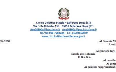 CIRCOLARE 24/2020 – didattica a distanza(DAD). Comunicazioni percorsi didattici 1