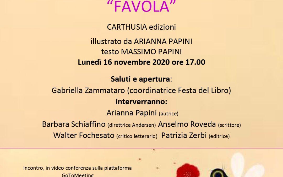 """Presentazione del libro """"Favola"""". Lunedì 16 novembre ore 17,00"""